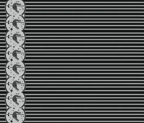 Dodo Cookie Carousel Black fabric by mini_mori on Spoonflower - custom fabric