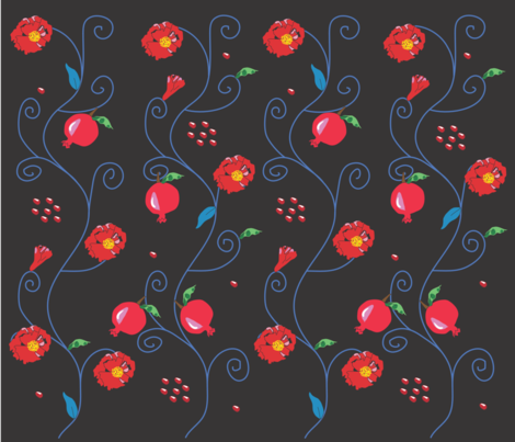 pomegranate2 fabric by arnie on Spoonflower - custom fabric
