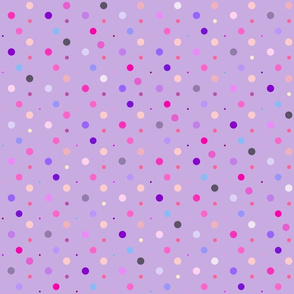Purple Dots Light Small