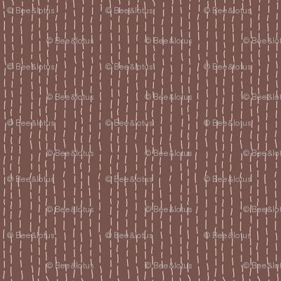 Kantha Stitch Cocoa