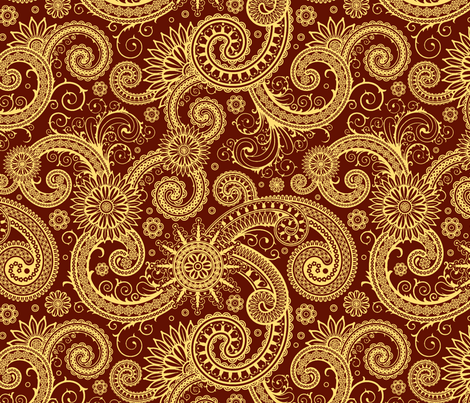 India Fireworks fabric by flyingfish on Spoonflower - custom fabric