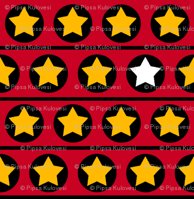 Stars and stripes_red,yellow,black