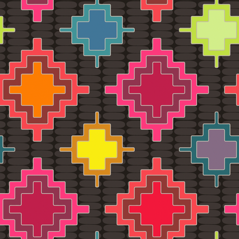 bold kilim fabric by scrummy on Spoonflower - custom fabric
