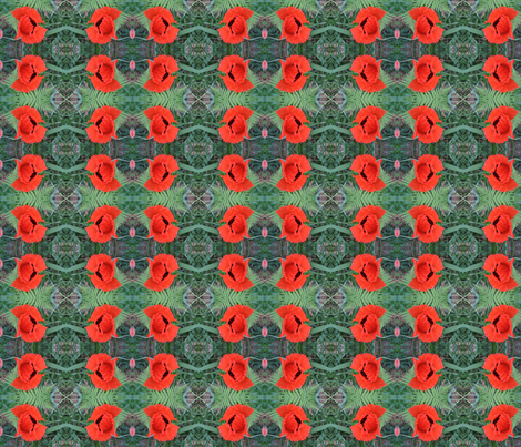 poppy_orange fabric by anino on Spoonflower - custom fabric