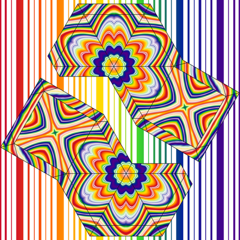 Rainbow Pyramid Swatch Toy fabric by shala on Spoonflower - custom fabric