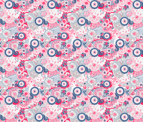 Flamingo Paradise Lazy Sundays fabric by johanna_lange_designs on Spoonflower - custom fabric