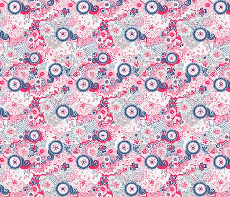 Flamingo Paradise Lazy Sundays fabric by johanna_lange_designs on Spoonflower - custom fabric
