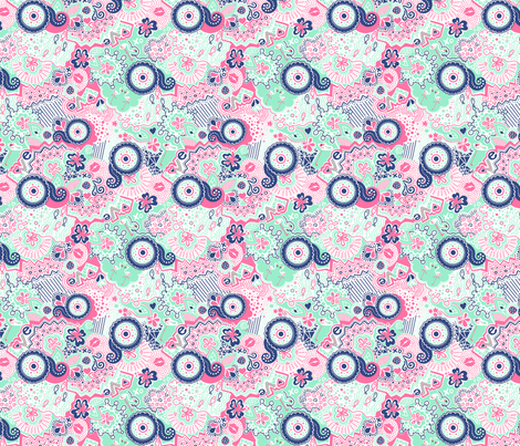 Flamingo Paradise Fresh fabric by johanna_lange_designs on Spoonflower - custom fabric