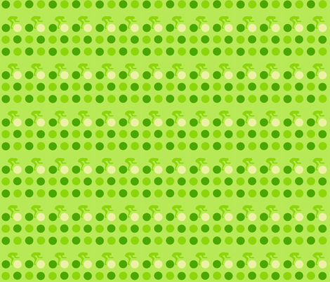 Cycle Racers Green Dot fabric by smuk on Spoonflower - custom fabric