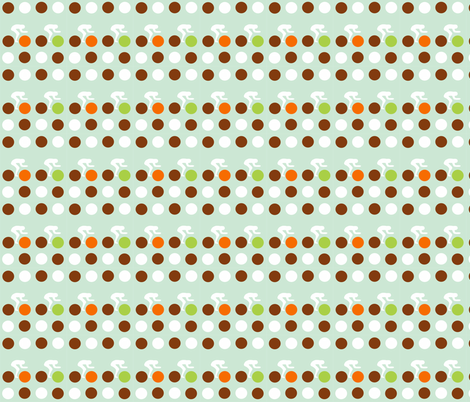 Cycle Racers Retro Dot fabric by smuk on Spoonflower - custom fabric
