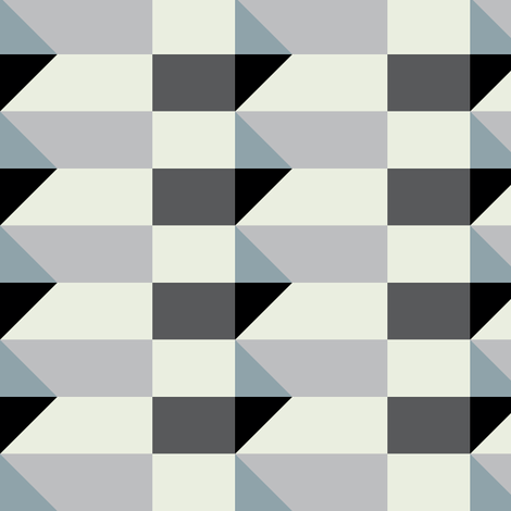 Crispijn Grey & Black fabric by stoflab on Spoonflower - custom fabric