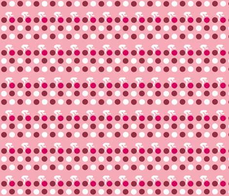 Cycle Racers Raspberry Dot fabric by smuk on Spoonflower - custom fabric