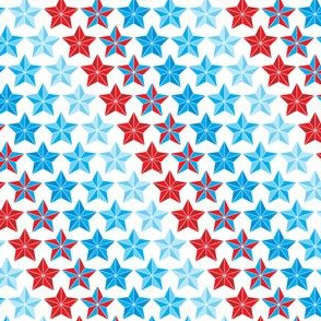 Stars in stripes red white and blue