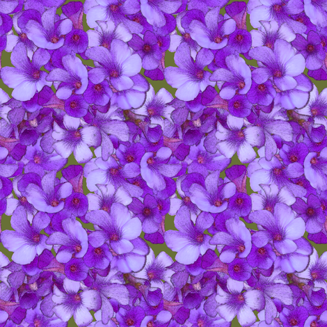 Purple Wood Sorrel - mini fabric by nezumiworld on Spoonflower - custom fabric