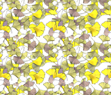 gingko fabric by moonbeam on Spoonflower - custom fabric
