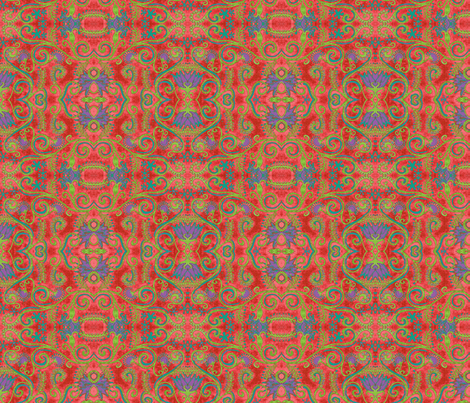 Eppleyanna, coral fabric by hooeybatiks on Spoonflower - custom fabric