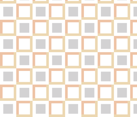 squares in squares - gray brown fabric by gingerme on Spoonflower - custom fabric