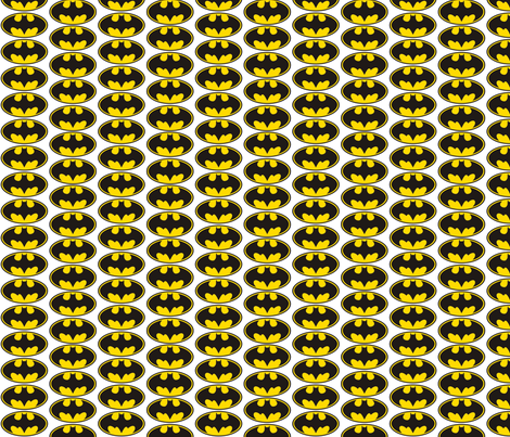 Batman classic fabric by reganraff on Spoonflower - custom fabric