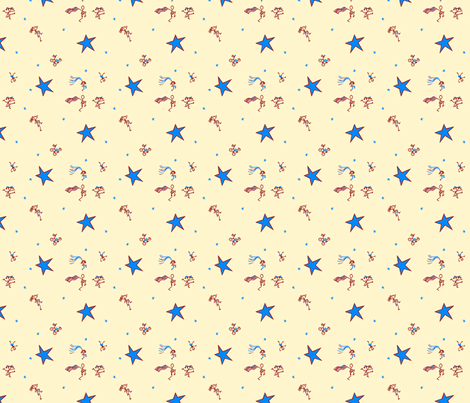 Stars and Stripes: Scatter Print Coordinate fabric by tallulahdahling on Spoonflower - custom fabric
