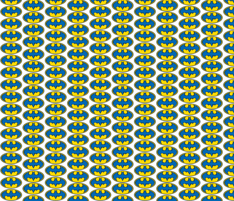 Batman-color edit blue fabric by reganraff on Spoonflower - custom fabric