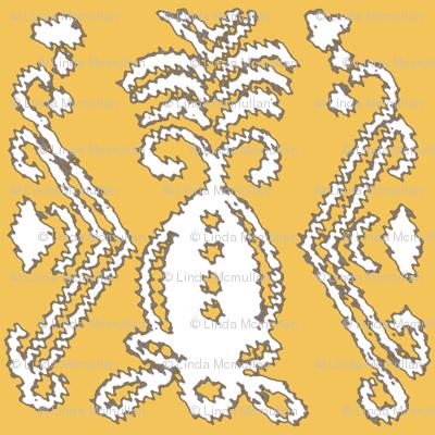 Pineapple Ikat Saffron