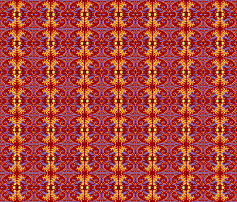 eppleyanna flaming flower-ed fabric by hooeybatiks on Spoonflower - custom fabric
