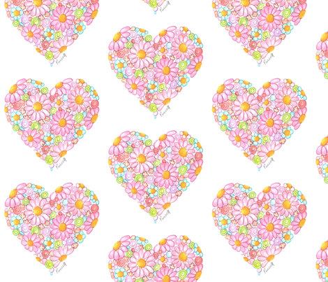 Innocent Heart fabric by janepurcell on Spoonflower - custom fabric