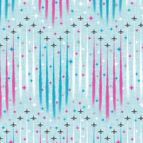 Jubilee Flyover - Red Arrows fabric by inscribed_here on Spoonflower - custom fabric