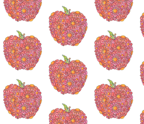 Red Apple fabric by janepurcell on Spoonflower - custom fabric