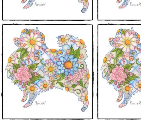 pretty_pomeranian fabric by janepurcell on Spoonflower - custom fabric