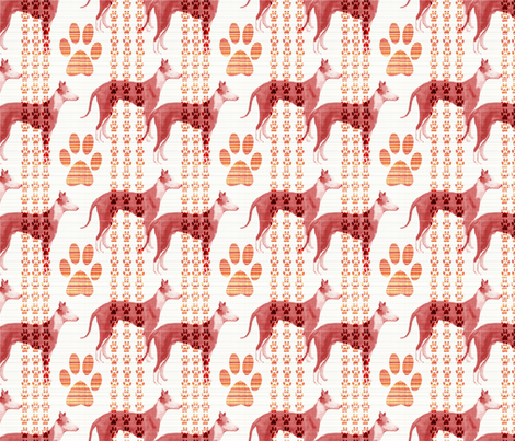 IBIZAN HOUND FABRIC fabric by dogdaze_ on Spoonflower - custom fabric