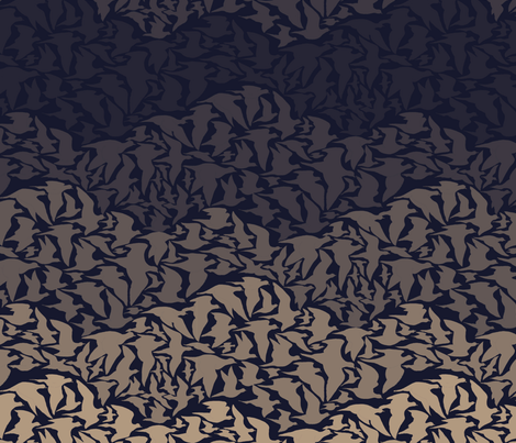 Flight of Pigeons (dark) fabric by ceanirminger on Spoonflower - custom fabric