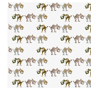 Extinct Animals for Spoonflower, by Manon