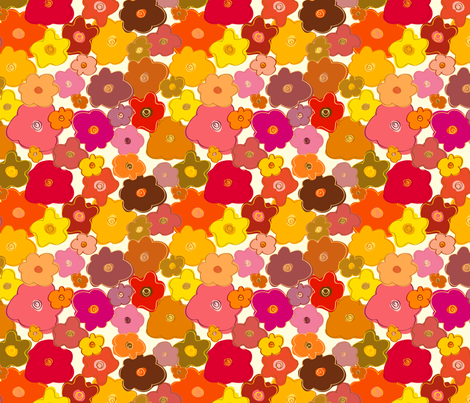 Colorful Flowers fabric by donnamarie on Spoonflower - custom fabric