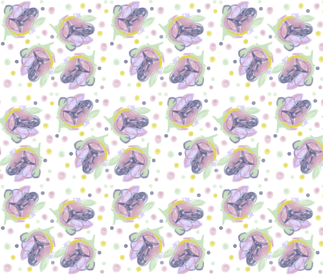 Pink Blossoms fabric by joanne_headington on Spoonflower - custom fabric