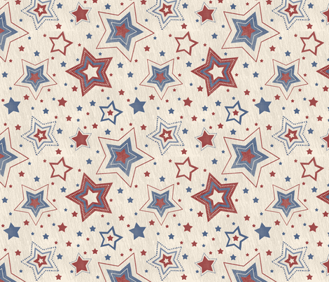 Red_White_and_Blue_Stars fabric by jpdesigns on Spoonflower - custom fabric