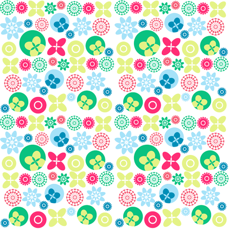 three fabric by jlwillustration on Spoonflower - custom fabric