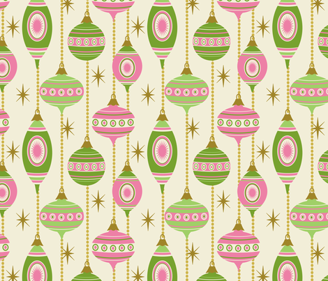 STARS AND STRIPES ~ Evergreen and Bubblegum fabric by retrorudolphs on Spoonflower - custom fabric