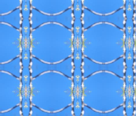 sky blue sparkles fabric by eat_my_sweet_dust on Spoonflower - custom fabric