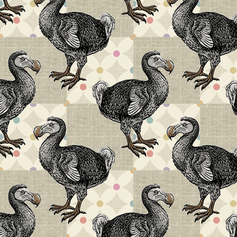 Dodo Doodle fabric by littlerhodydesign on Spoonflower - custom fabric