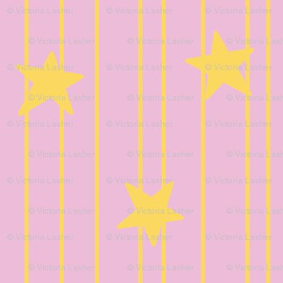 Gold stars and stripes - soft pink