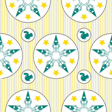 Star Struck Gnomes fabric by thebon on Spoonflower - custom fabric