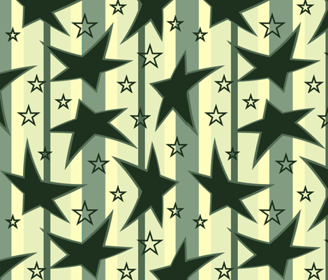 Stars and Stripes fabric by jabiroo on Spoonflower - custom fabric