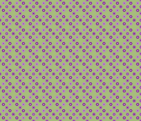 2_inch_purples_green_hex fabric by khowardquilts on Spoonflower - custom fabric
