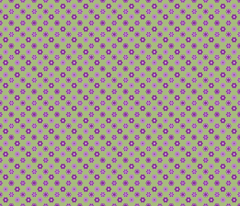 2_inch_purples_green_hex_3 fabric by khowardquilts on Spoonflower - custom fabric