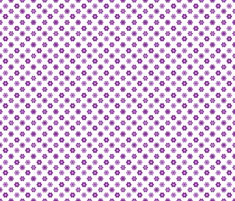 2_inch_purples_green_hex_3-ch fabric by khowardquilts on Spoonflower - custom fabric