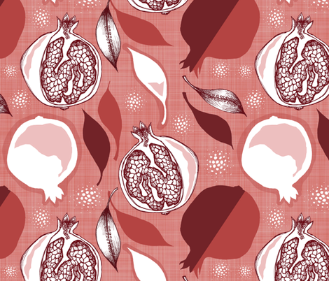 Pomegranates fabric by dianef on Spoonflower - custom fabric