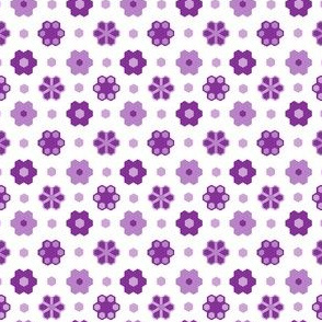 Hexagon Flower -purples_white 2_inch__4