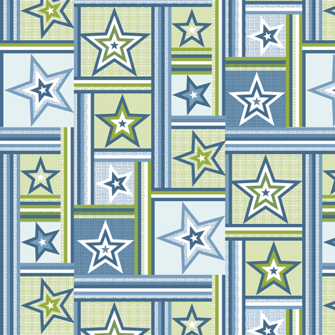 patchwork stars and stripes fabric by cjldesigns on Spoonflower - custom fabric