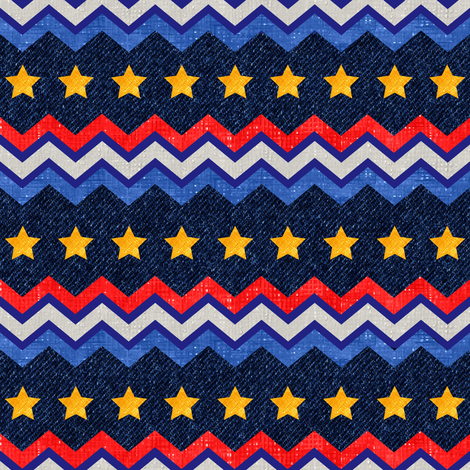 zig_zag_americana_with_denim_ai fabric by vo_aka_virginiao on Spoonflower - custom fabric